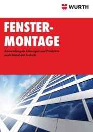Fenstermontage - Adolf Würth GmbH & Co. KG