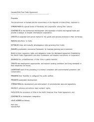 Canada-Chile Free Trade Agreement ... - UNU-CRIS