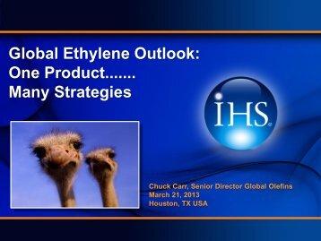 Global Ethylene Outlook One Product...... Many Strategies