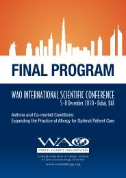 Dubai Final-v20.indd - World Allergy Organization