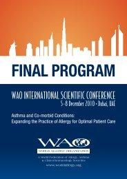 Dubai Final-v20.indd - World Allergy Organization