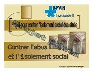 Projet pour contrer l'isolement social des aînés - Trousse SOS Abus