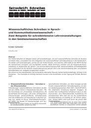Wissenschaftliches Schreiben in Sprach- und - Zeitschrift Schreiben