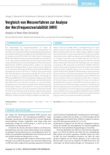 Analysis of Heart-Rate Variability - Deutsche Zeitschrift für ...