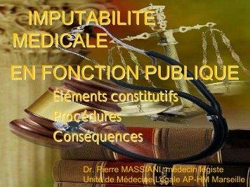 IMPUTABILITE MEDICALE EN FONCTION PUBLIQUE