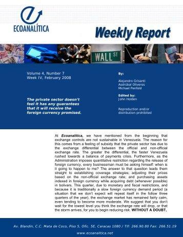 c Volume 4, Number 7 Week IV, February 2008 The ... - Ecoanalítica