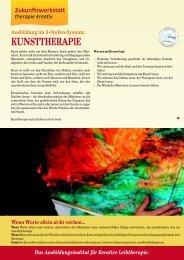 KUNSTTHERAPIE - Zukunftswerkstatt therapie kreativ