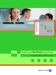 Alcatel-Lucent OmniTouch Contact Center ...