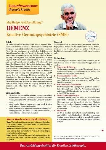 (SMEI) DEMENZ - Zukunftswerkstatt therapie kreativ