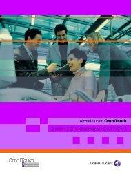 Alcatel-Lucent OmniTouch U N I F I E D C O M M U N I C A T I O N S