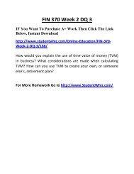 FIN 370 Week 2 DQ 3 Complete Homework Help