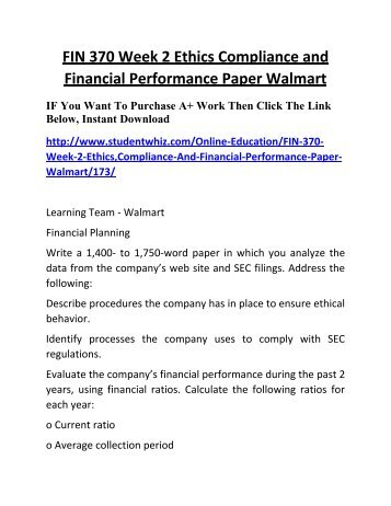 Case Study 1: Walmart Manages Ethics and Compliance Challenges