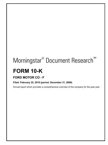 ford motor company research paper