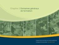 Document 10 Chapitre 2 Domaines généraux de formation