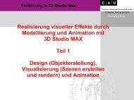 Einführung in 3D Studio Max - Rechenzentrum CAU Kiel
