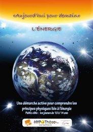 «Aujourd'hui pour demain» L'énergie