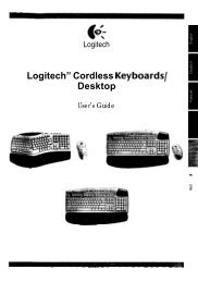 "Logitech"" Cordless Keyboards/ Desktop - produktinfo.conrad.com"