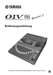 01V96 V2 Bedienungsanleitung - Yamaha