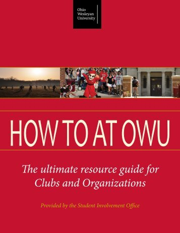HOW TO AT OWU