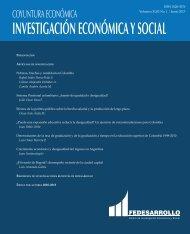 INVESTIGACIÓN ECONÓMICA Y SOCIAL