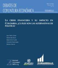 DEBATES DE COYUNTURA ECONÓMICA