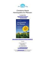 Christiane Maute Homöopathie für Pflanzen - Sunrise Versand