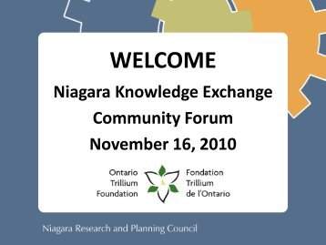 Slides from the November 16, 2010 Niagara Knowledge - Niagara ...