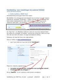 Handleiding voor instellingen bij webmail EDUGO