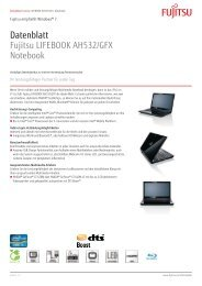 Datenblatt Fujitsu LIFEBOOK AH532/GFX Notebook - Videomatic