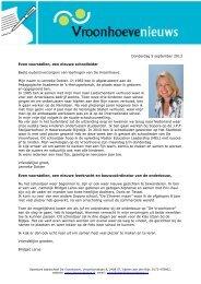 Alphen aan den Rijn, 18 september 2007 - OBS De Vroonhoeve in ...