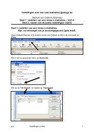 e-mail instellen in Outlook Express - Edugo