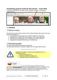 Handleiding gebruik webmail 'Roundcube' maart 2010 1 Inleiding