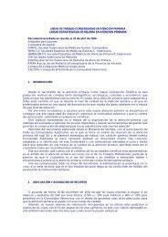 LINEAS ESTRATEGICAS DE MEJORA EN ATENCION PRIMARIA