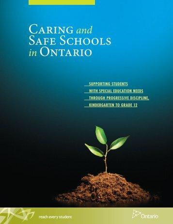 Caring Safe Schools Ontario