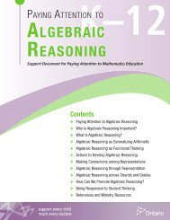 Paying Attention to Algebraic Reasoning, K to 12 - EduGains