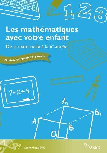 Les mathématiques avec votre enfant