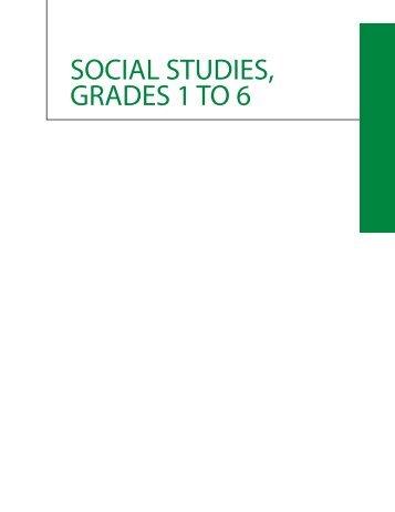 SOCIAL STUDIES GRADES 1 TO 6
