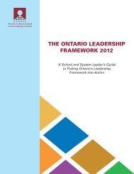 The Ontario Leadership Framework 2012
