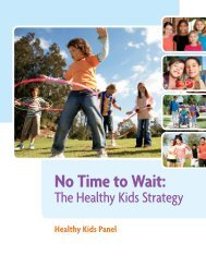 No Time to Wait: The Health Kids Strategy - Ontario