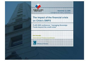 The impact of the financial crisis on Chile's SWFS - FLAR