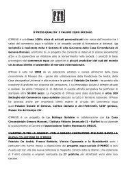 cartella stampa Opress 2012 - La Bottega Solidale