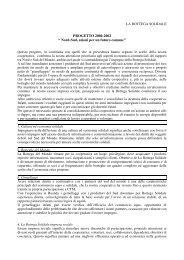 """PROGETTO 2000-2002 """" Nord-Sud, azioni per un futuro comune"""" - La ..."""