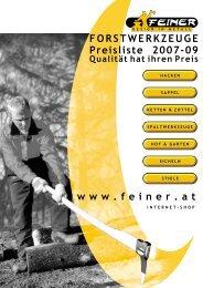 Preisliste 2007-2009 - Feiner GmbH