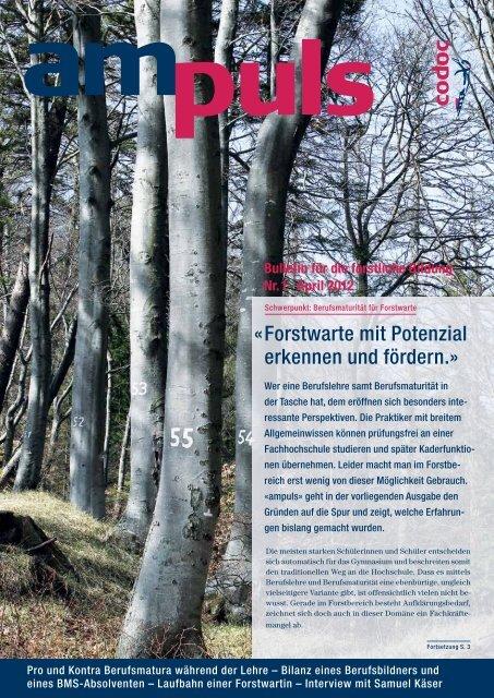 Bulletin für die forstliche Bildung Nr. 1 . April 2012 - Codoc