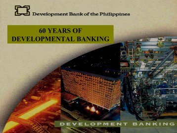 60 YEARS OF DEVELOPMENTAL BANKING