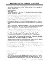 Register Report of John Sullivan and Julia O'Connell - Cash ...