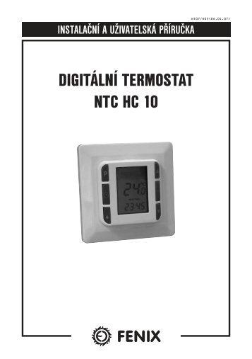 DIGITÁLNÍ TERMOSTAT NTC HC 10 - Fenix