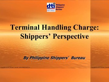 Terminal Handling Charge Shippers' Perspective