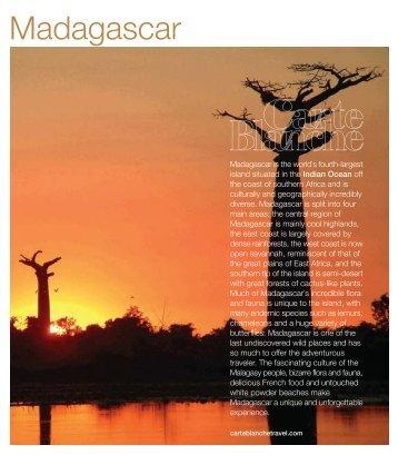 Madagascar - Carte Blanche Travel