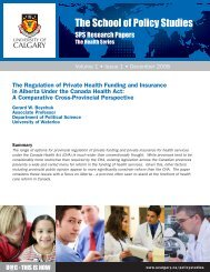View as PDF - School of Public Policy - University of Calgary